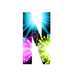 sparkler firework letter isolated on white vector image vector image