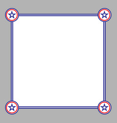 abstract american card frame vector image