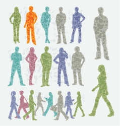 Abstract people silhouettes vector