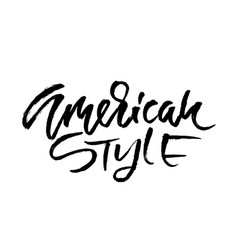 american style go to the beach modern typography vector image