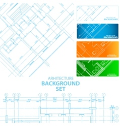 Architecture backgrounds vector image