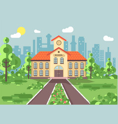 Back to school architecture vector