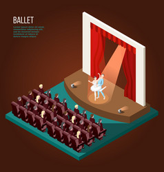 ballet isometric poster vector image