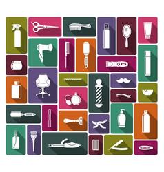 barbershop icons vector image