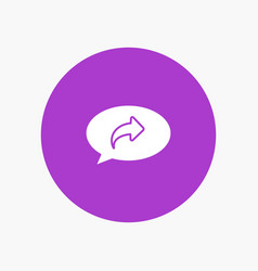Basic chat arrow right vector