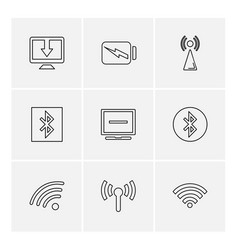 Battery wifi network infrared signals web vector