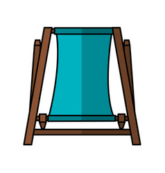 Beach chair isolated icon vector