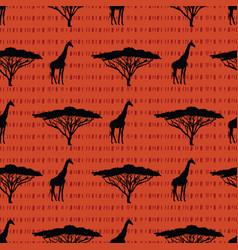 beautiful hand drawn seamless pattern background vector image