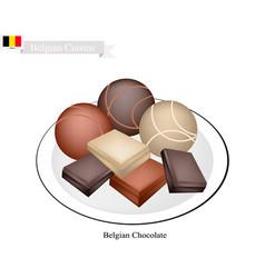 belgian chocolate a famous dessert of belgium vector image vector image