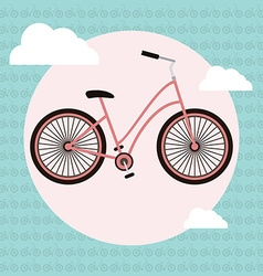 Bicycle greeting card vector image