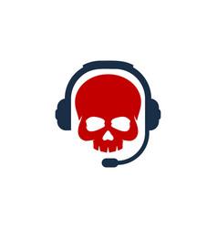 Bone podcast logo icon design vector