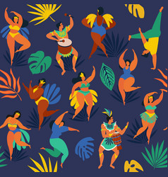 brazil carnival seamless pattern with flat vector image
