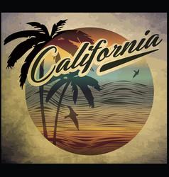 California beach surf club concept summer surfing vector