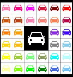 car sign felt-pen 33 vector image