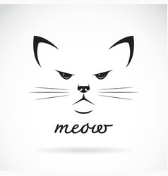 cat face design on white background pet animal vector image