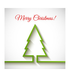 Christmas tree in flat style on white background vector image