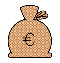 Comic book style cartoon bag of money vector
