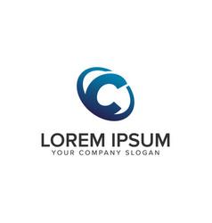 creative modern letter c logo design concept vector image