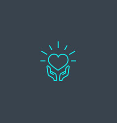Csr concept blue line icon simple thin element on vector