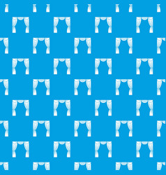 curtain on stage pattern seamless blue vector image
