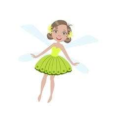 Cute Fairy With Dragonfly Wings Girly Cartoon vector