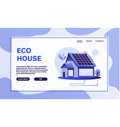 Eco house cartoon flat vector
