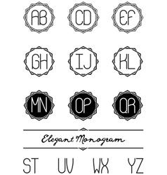 Elegant monogram vector