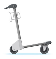 empty hand truck isolated on white background vector image
