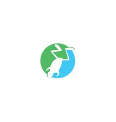frog logo design vector image