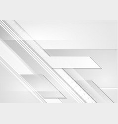 Grey tech geometric corporate abstract background vector