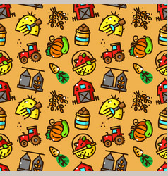 harvest seamless pattern vector image
