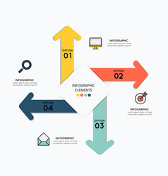 infographic elements with icons for business vector image