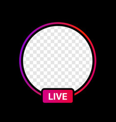 Instagram profile live icon interface transparent vector