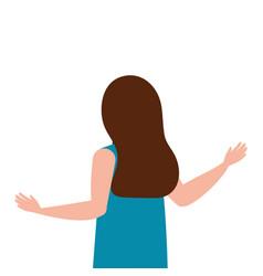 Isolated avatar woman backwards design vector