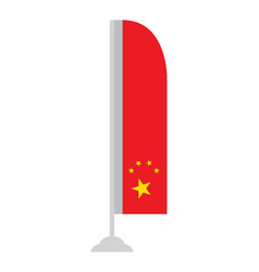 Isolated chinese flag vector