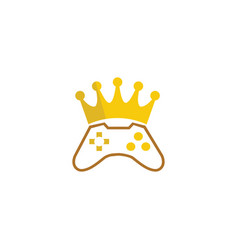 king gamer crown console symbol gaming play vector image