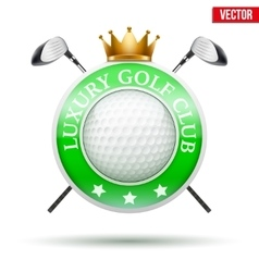 Label of Luxury Golf clubs vector image
