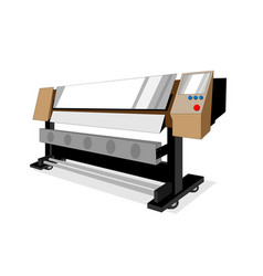 Large brown printer vector