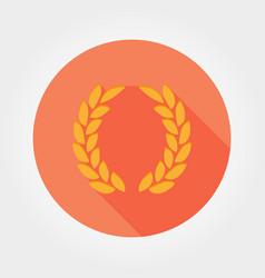 laurel wreath victory icon flat vector image