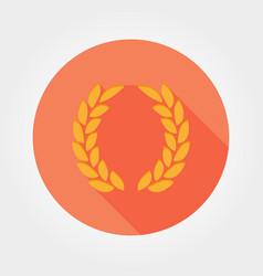laurel wreath victory icon flat vector image