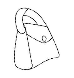 leather fashion purse vector image