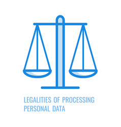 Legalities of processing personal data - thin vector
