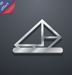 Letter envelope mail icon symbol 3D style Trendy vector