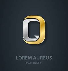 Letter q template for company logo 3d design vector