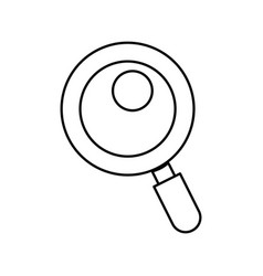 Line magnifying glass tool to search and read vector