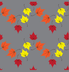 maple leaves seamless orange art background vector image