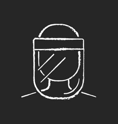 medical face shield chalk white icon on black vector image