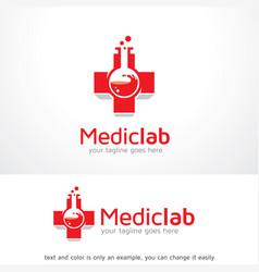 Medical lab logo template design emblem design vector