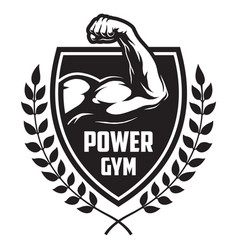 monochrome sport and fitness logotype vector image