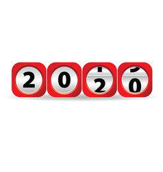 New year 2020 counter vector